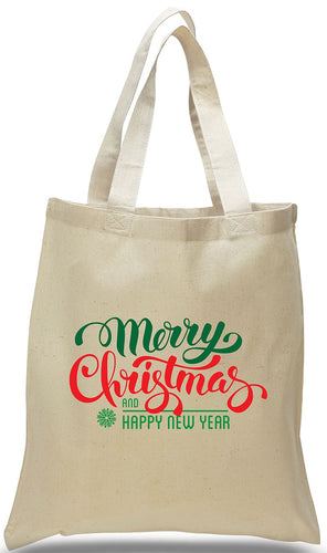 Merry Christmas All Cotton Canvas Tote Just $3.99 Each.