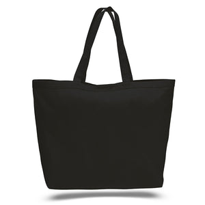 Huge All Cotton Canvas Tote with Top Closure Ideal as a Handbag or Travel Case, Available at Wholesale Discount Prices, Just $3,89 Each!
