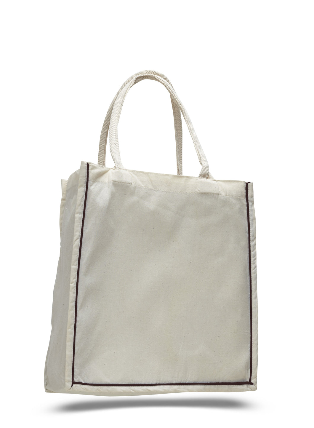 Canvas Tote Bag with Stripe