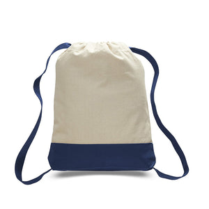 Classic All Cotton Heavy Duty Canvas Back Pack for Sports, School and Travel Available at Wholesale Just $2.99 Each.