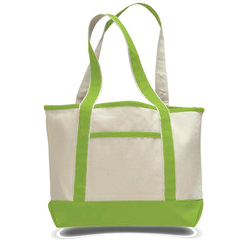 Classic All Cotton Heavy Duty Canvas Teacher's Tote with Side Pocket Just $4.99 Each.