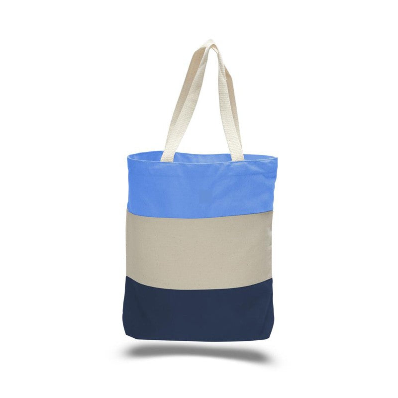 Tri-Colored Heavy Duty Canvas Tote Just $2.99 Each.