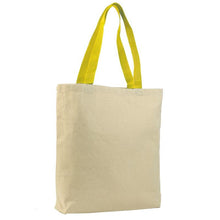 Canvas Jumbo Tote with Colored Handles
