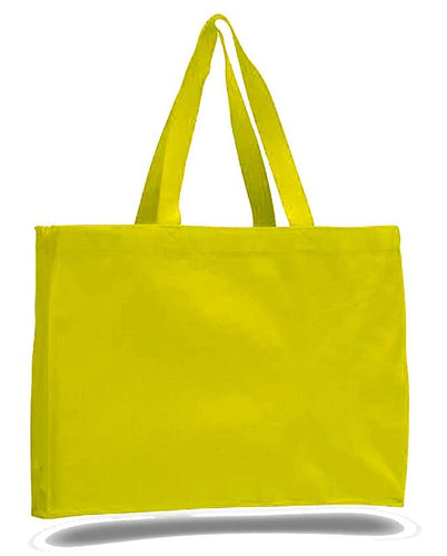 Quality All Cotton Canvas Tote with Gusset, Ideal for School, Office and Gym, is Available at Wholesale for Just $2.95 Each.