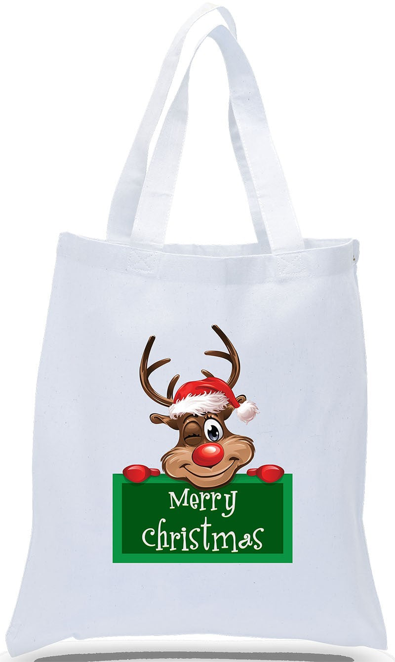 Rudolph Sign Merry Christmas Tote!