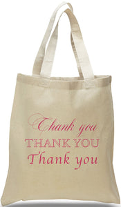 """Thank You"" All Cotton Canvas Tote Bag Just $3.99 Each."