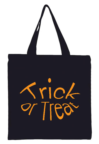 Discount Halloween Trick or Treat All Cotton Canvas Totes!!! Available in various colors $3.99 - $4.49!