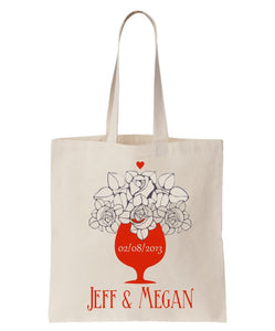 Wedding Announcement/Welcome Totes Made of 100% Cotton, Personalized, Just $3.99 Each.