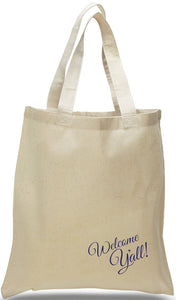Welcome Y'all Event Greeting Tote