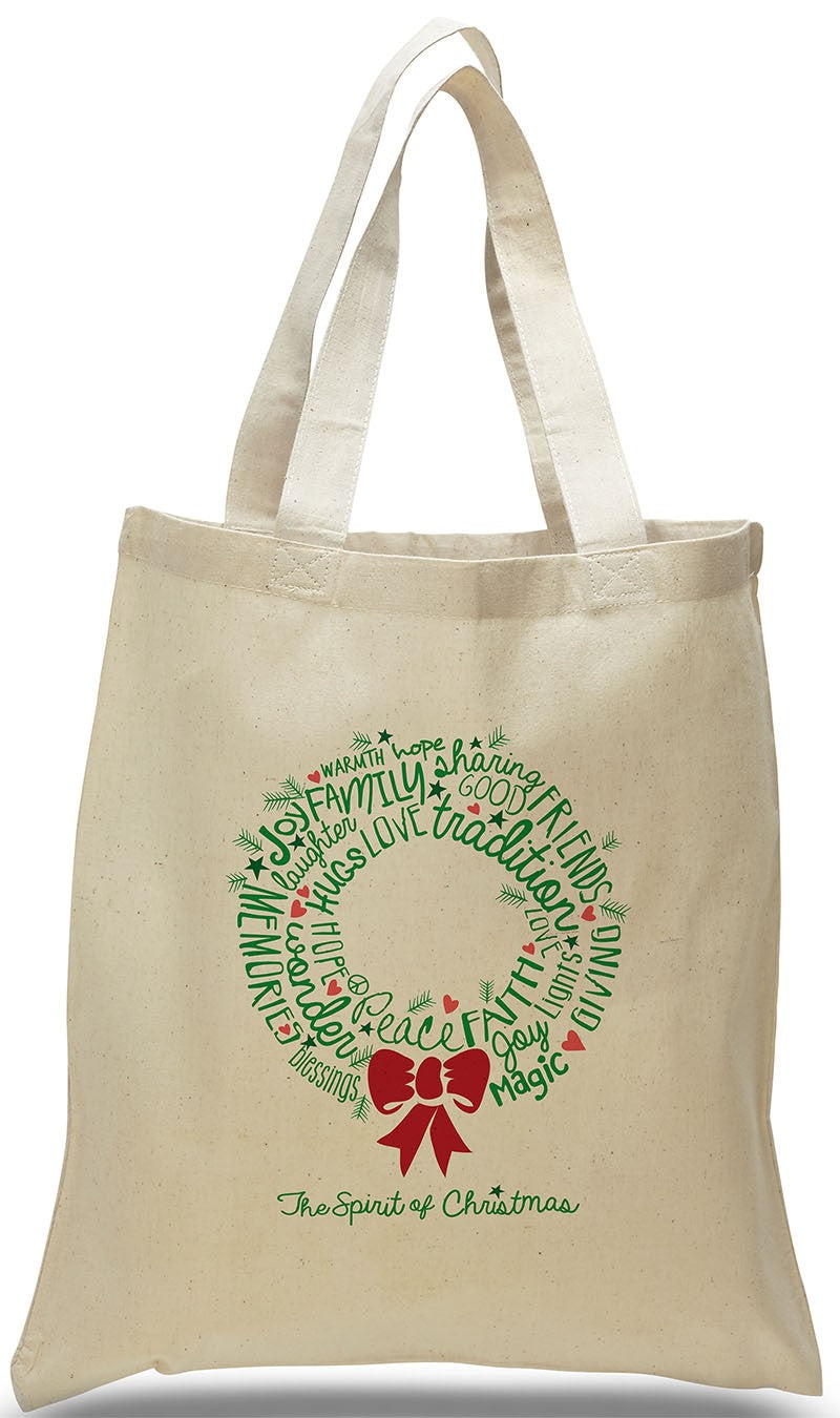 All Cotton Christmas Tote Bag for Gifts and Special Occasions, just $3.99 Each.