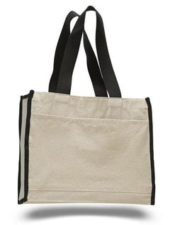 a4da768f5 Heavy Duty Gusseted Canvas Tote with Colored Handles $3.65