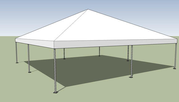 30' wide Frame tents for use as party tents