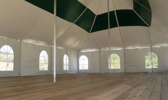 Sidewalls for party tents in single rolls. Differents styles and lengths to choose from