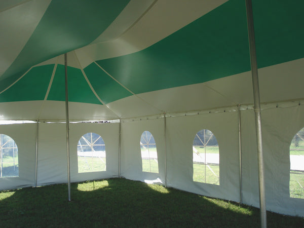 Ohenry tent with round cathedral window sidewalls
