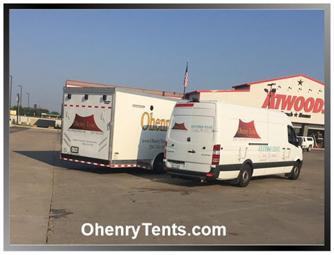 Oheny partyy tent deliveries