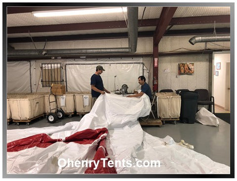 ohenry party tent manufacturing