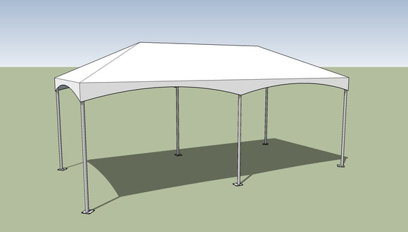 10x20 Premium Frame Tent Tension top and frame