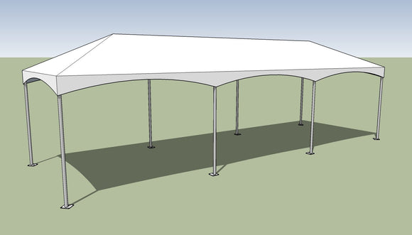 10x30 Premium Frame Tent Tension top and frame