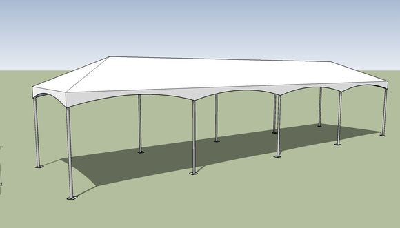 10x40 Premium Frame Tent Tension top and frame