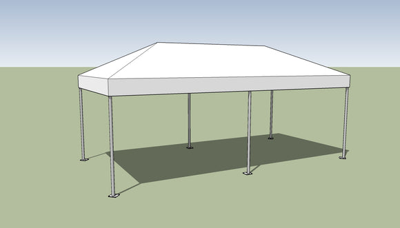 Ohenry 10' x 20' Frame tent top and frame