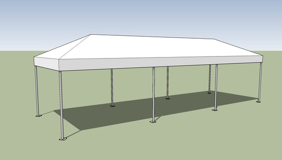 Ohenry 10' x 30' Frame tent top and frame