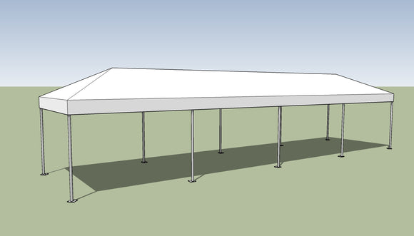 Ohenry 10' x 40' Frame tent top and frame