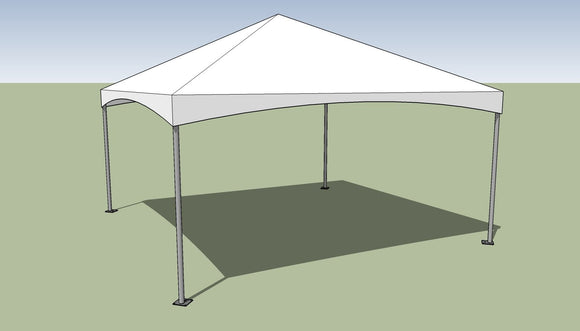 15x15 Premium Frame Tent Tension top and frame