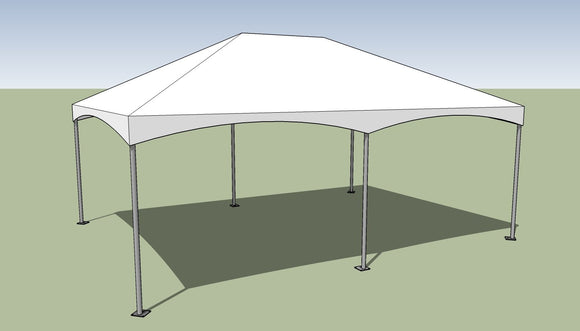 15x20 Premium Frame Tent Tension top and frame