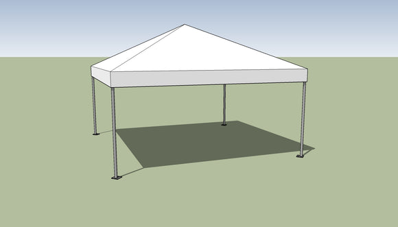 Ohenry 15' x 15' Frame tent top and frame