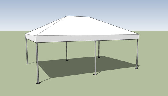 Ohenry 15' x 20' Frame tent top and frame