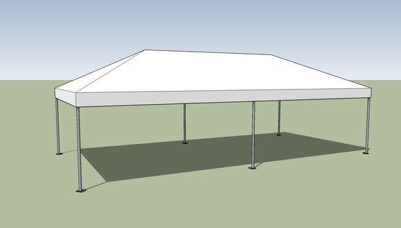Ohenry 15' x 30' Frame tent top and frame