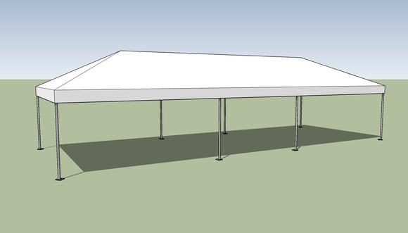 Ohenry 15' x 40' Frame tent top and frame