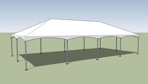20x40 Premium Frame Tent Tension top and frame