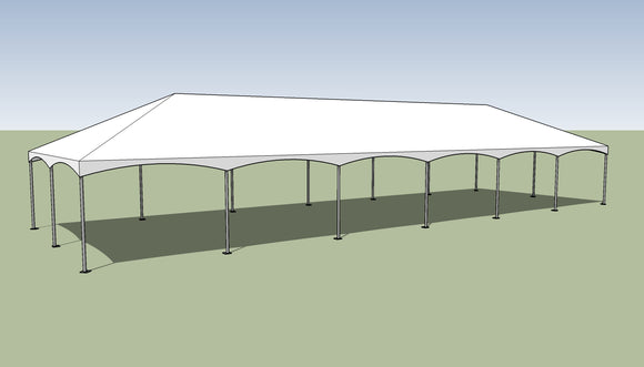 20' x 60' Frame Tent - With Premium Tension Cover