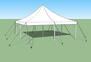 Ohenry 20' x 20' high peak pole tent used as Party tent