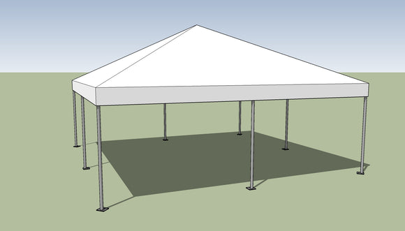 Ohenry 20' x 20' Frame tent top and frame