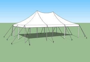 Ohenry 20' x 30' high peak pole tent used as Party tent