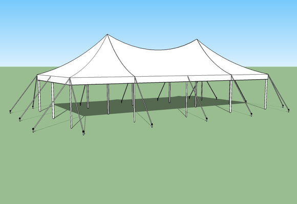 Ohenry 20' x 40' high peak pole tent used as Party tent
