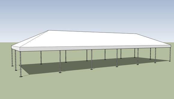 Ohenry 20' x 60' Frame tent top and frame