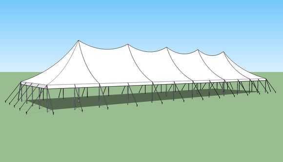 Ohenry 30' x 110' high peak pole tent sketch