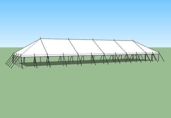 Ohenry 30' x 110' Pole Tent. Great for party tent