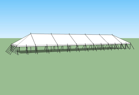 Ohenry 30' x 130' Pole Tent. Great for party tent
