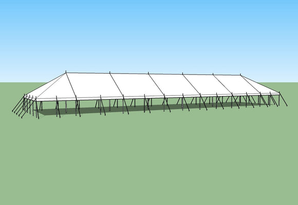 Ohenry 30' x 130' party tent sketch