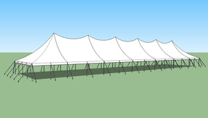 Ohenry 30' x 130' high peak pole tent sketch