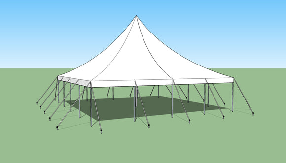 Ohenry 30' x 30' high peak pole tent used as Party tent