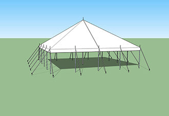 buy ohenry 30x30 Pole Tent