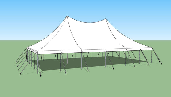 Ohenry 30' x 50' high peak pole tent sketch of Party tent