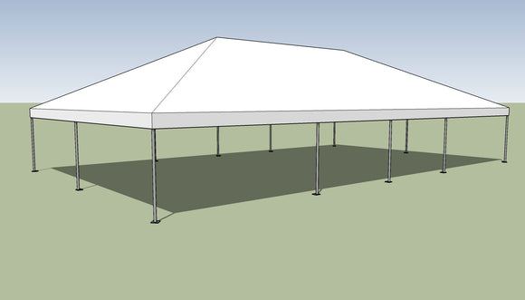 Ohenry 30' x 50' Frame tent top and frame