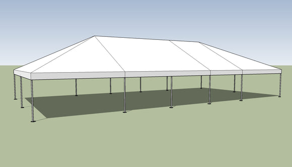 Ohenry 30' x 60' Frame tent top and frame