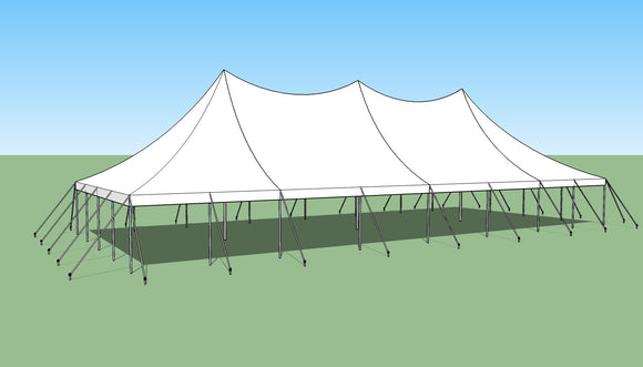 Ohenry 30' x 70' high peak pole tent used as Party tent